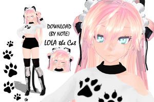 MMD Model 'Lola the Cat' (DOWNLOAD- Note Only) by ReignPhoenix