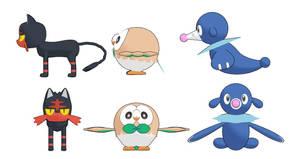 MMD Pokemon model download : Litten Rowlet Popplio by HoshichoM