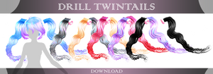 MMD download : Drill Twintails DL by HoshichoM