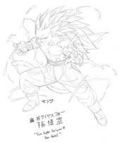 Character Sketch - True Super Saiyan 4 Son Goku by MalikStudios