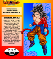 Son Goku ASSJ4 Bio Card by MalikStudios