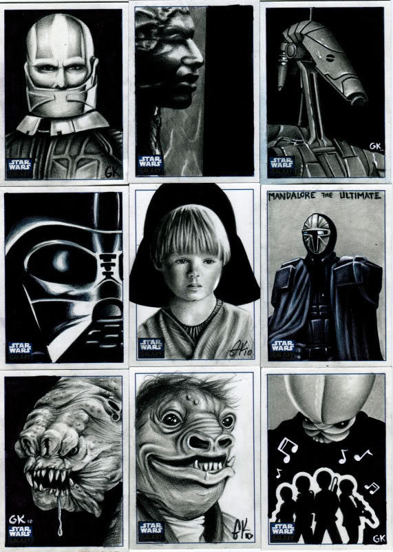 Topps Star Wars Galaxy Pt IV by AstroVisionary