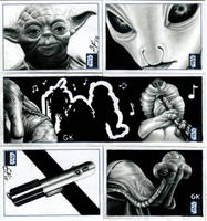 Topps Star Wars Galaxy Pt V by AstroVisionary