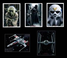 Star Wars Sketch Cards VI by AstroVisionary