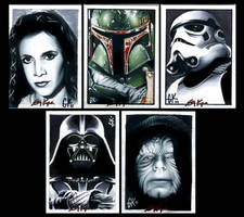 Mixed Star Wars Commissions by AstroVisionary