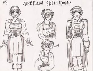 Alice Elliot Sketchdump by dulcis-absinthe