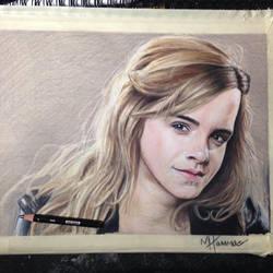 Emma Watson drawing finished. by MacHammac