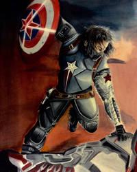 Bucky Captain America by Jamin95