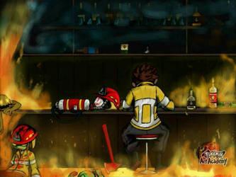 Dead Ahead zombie Warfare FireFighter by chowjuexin