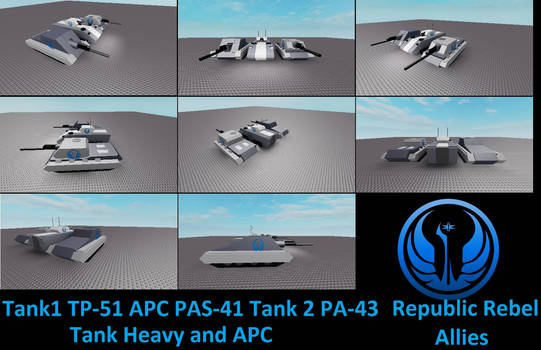 Republic Rebel Allies Tank Heavy and APC by chowjuexin