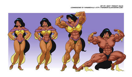 Jasmine muscle growth (Pokkuti's I Wish) by VinPhu1