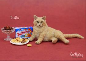 Miniature 1:12 Cat sculpture - BonBon by Pajutee