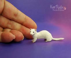 Miniature Ferret Sculpture by Pajutee