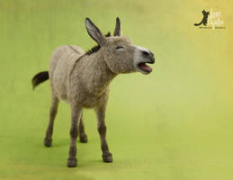 Miniature 1:12 Braying Donkey Sculpture by Pajutee