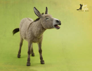 Miniature 1:12 Braying Donkey Sculpture by Pajutee