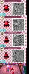 Animal Crossing QR Codes: Valentine's Day Dress by blackdemondragon13