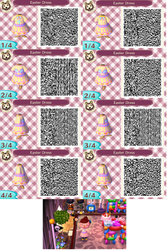 Animal Crossing QR Codes: Easter Day Dress by blackdemondragon13