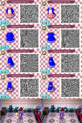 Independence Day Dress QR Codes by blackdemondragon13