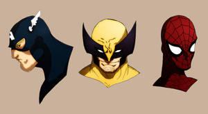 Marvel Super Heroes by leodeleao