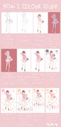 How I colour by KudamonoYasai