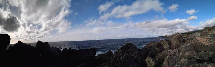 Sado Island Sea panorama by xuae