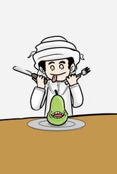 Exoo love to eat pears by xuae