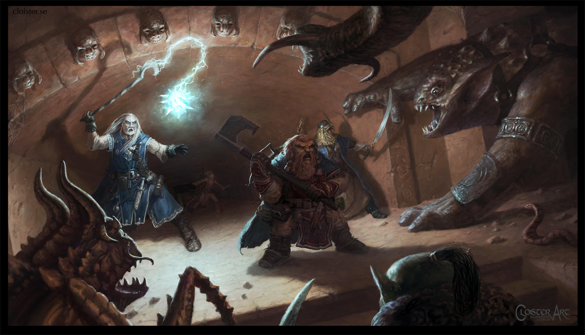 Pathfinder iconics in action (fan art) by Cloister
