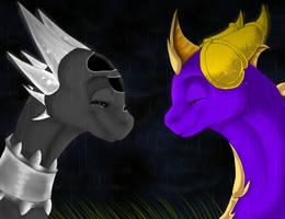 Spyro and Cynder WIP by xX-Starduster-Xx