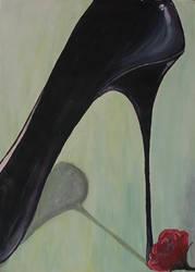 on high heels by TigerLill