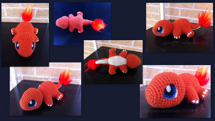 Baby Charmander (with pattern) by aphid777