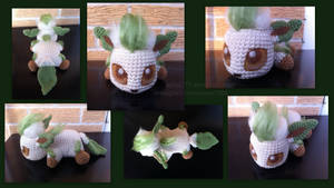 Baby Leafeon (with pattern) by aphid777
