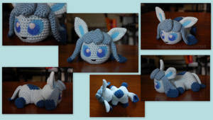 Baby Glaceon (with pattern) by aphid777