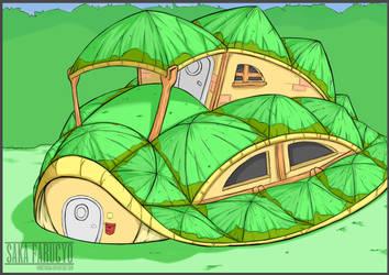 Turtle Shell House by FarucyoSaka