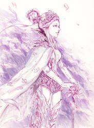 Inktober 14: Sorcerer by Metapham