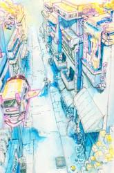 Inktober 15: Box Street by Metapham