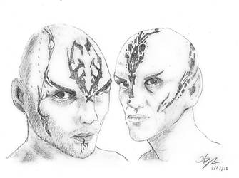 Nero and Ayel: A Sketch by GraphiteStrike
