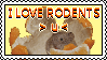 I LOVE RODENTS stamp by xx7795