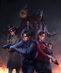 RESIDENT EVIL 2 REMAKE by dannis1982