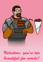 Gordon Freeman valentine by Lilgreenmen