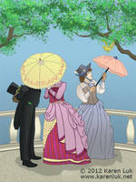 P is for parasol by karenluk