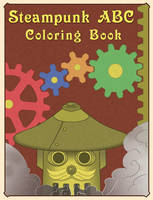 Steampunk ABC Coloring Book cover by karenluk