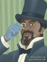 M is for monocle by karenluk