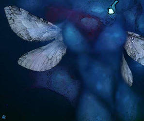 Femme bleue / Blu Woman / Donna blu by Zandrine-C