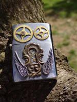 Steampunk lighter by Hiddendemon-666