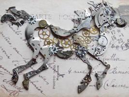 Steampunk horse by Hiddendemon-666