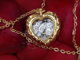 Steampunk heart necklace by Hiddendemon-666