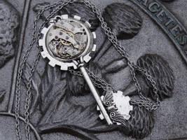 Steampunk Silver Dream Key by Hiddendemon-666