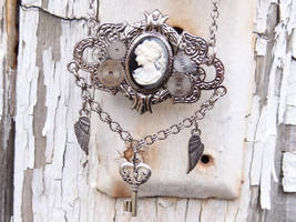 Steampunk Cameo Necklace by Hiddendemon-666