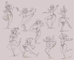 Indian Girl Dancing Poses by ZoeLeandra