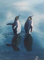 Emperor Penguins by DivinoArtista